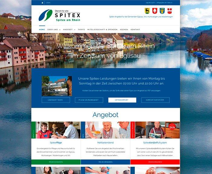 Redesign Webauftritt Spitex am Rhein, Eglisau
